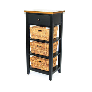 Black & Natural Storage Rack