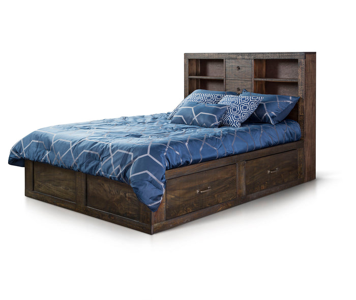 Flex Life Ranch House Full Captains Bookcase Storage Bed