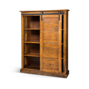 Santa Fe Barn Door Bookcase