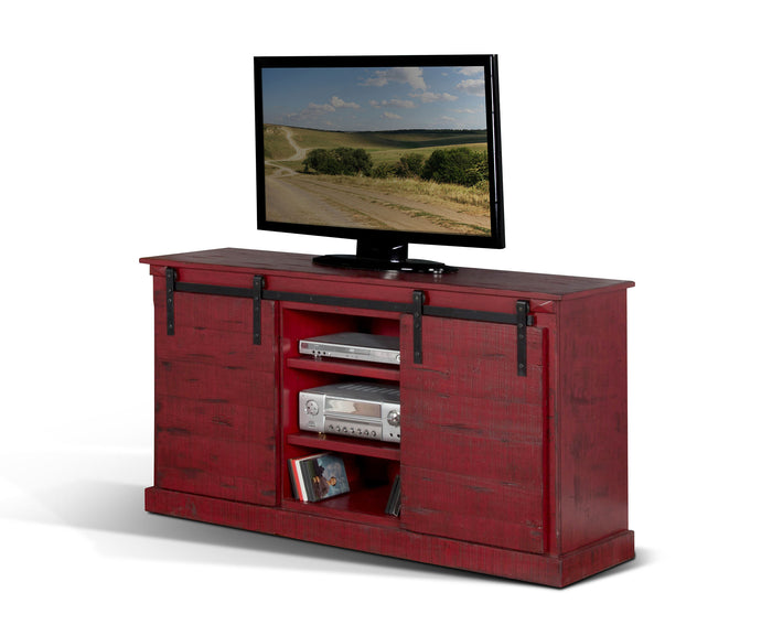 Burnt Red TV Console
