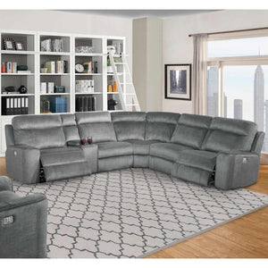 Parthenon Titanium 6pc Package Sectional