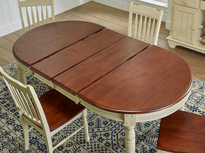 British Isles MB Oval Dining Table Merlot/Buttermilk