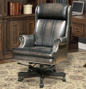 Smoke Wipe Leather Desk Chair