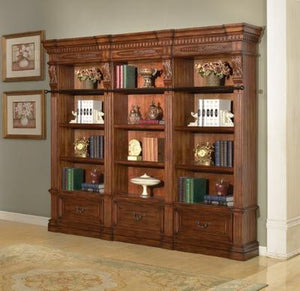 Granada 3 piece Museum Bookcase Set