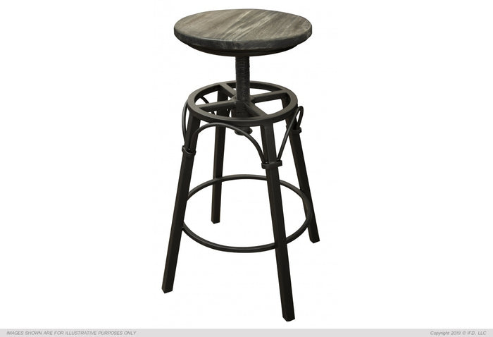 "Moro 24""-30"" Adjustable Height Iron Swivel Stool Moro finish"