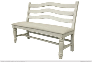 Stone Bench for Dining - Ivory Finish