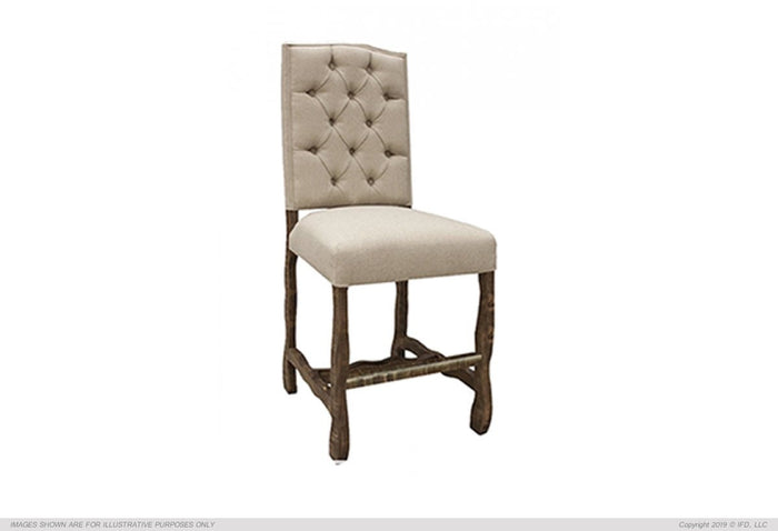 "Marquez 	24"" Uph. Barstool w/ Tufted Back"