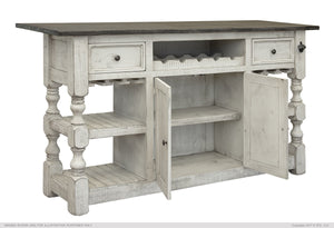 Stone 2 Drawer, 2 Doors Bar
