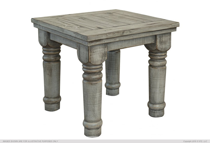 Botero Gray End Table Gray Finish