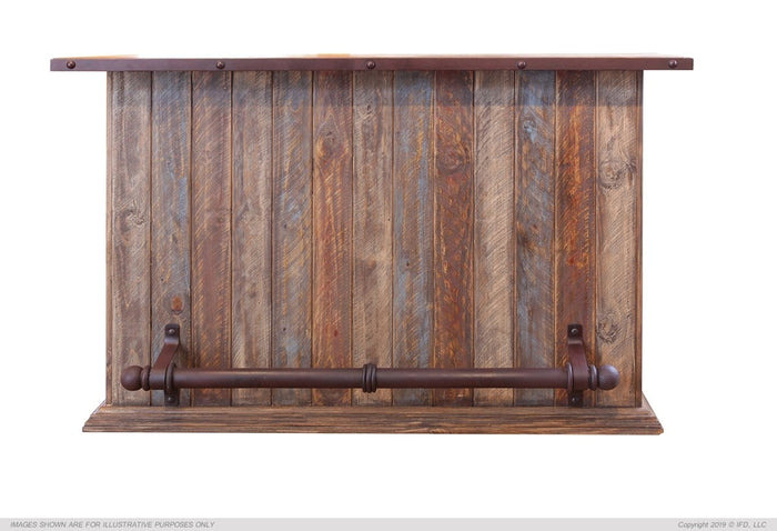 Antique Multicolor Bar w/Iron footrest