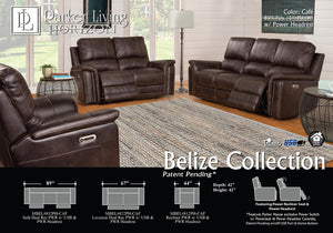 Belize Café Power Sofa