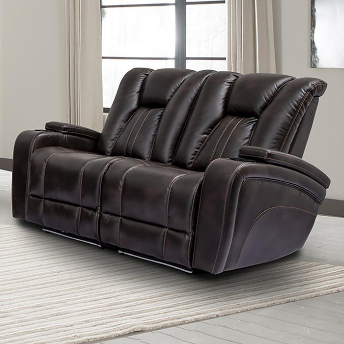 Optimus Truffle Power Loveseat