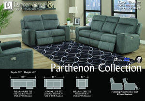 Parthenon Titanium Power Sofa