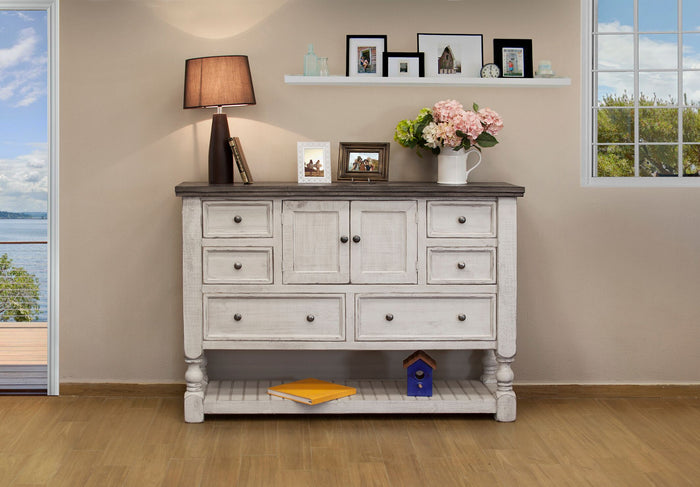 Stone Collection 6 Drawer 2 Door Dresser