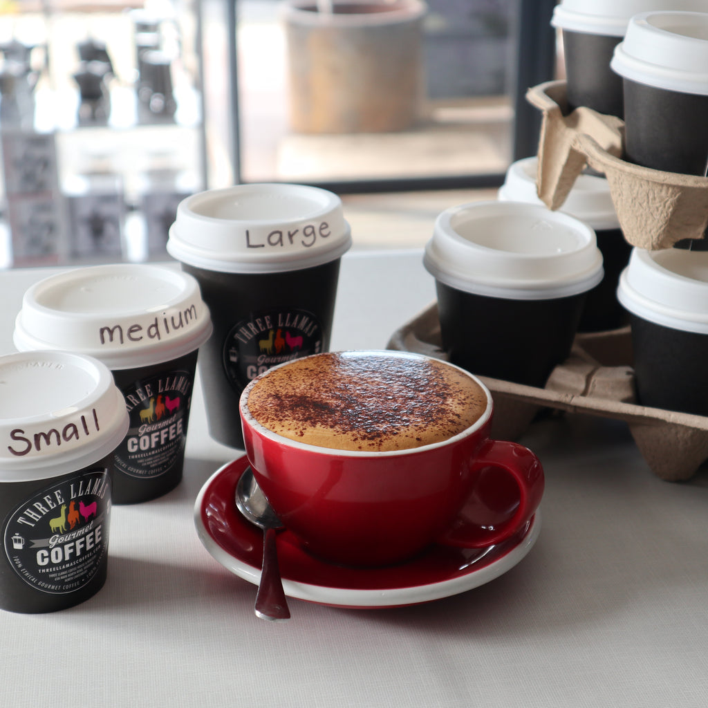 6 takeaway Cappuccinos (includes 1 FREE)