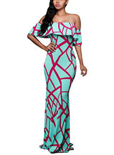 "Load image into Gallery viewer, ""Who's that Girl"" Off Shoulder Maxi Dress"