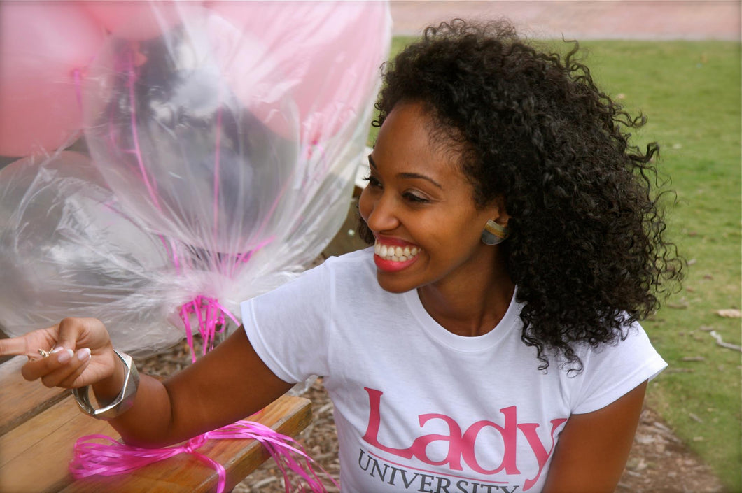 White Lady University Signature Tee (crew neck)