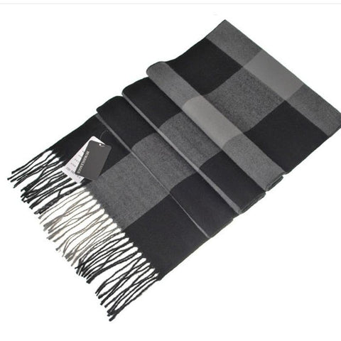 Pure Cashmere Thick British Plaid Scarf