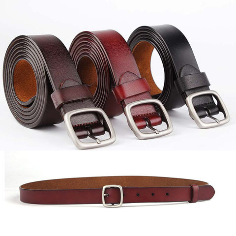 New casual ladies belt leather pin buckle belt leather jeans belt
