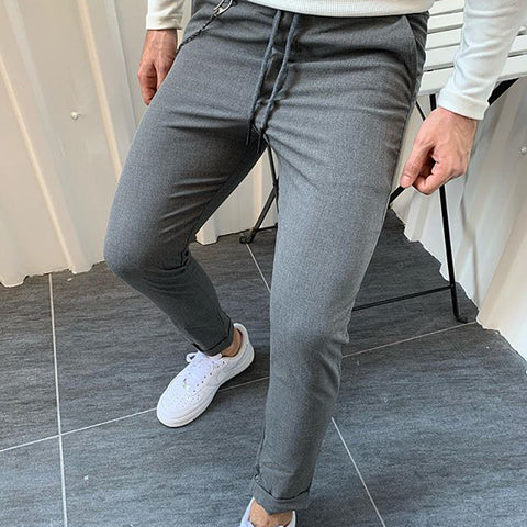 Men's Casual Sports Solid Color Trousers