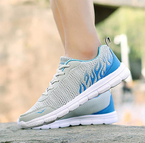 Spring and summer mesh casual couple models sports shoes