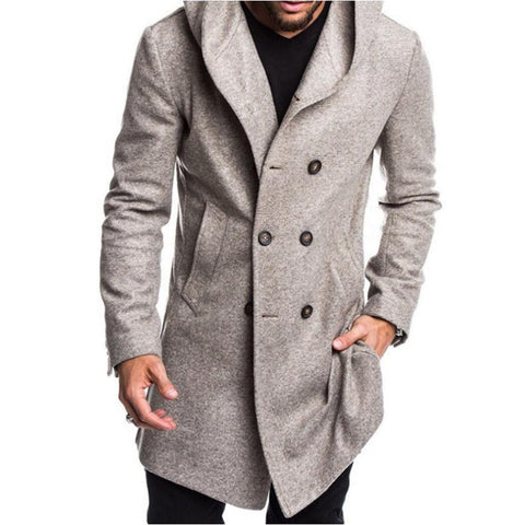 Men's Trendy Hooded Woolen Jacket