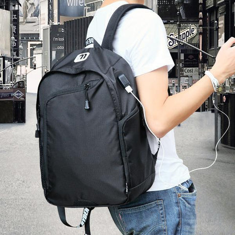 Multifunction USB Charging Male Leisure Travel Backpack