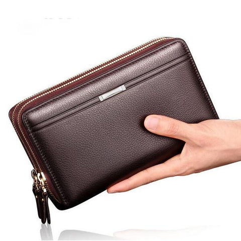 Business Men Wallets Long PU Men's Leather Cell Phone Clutch