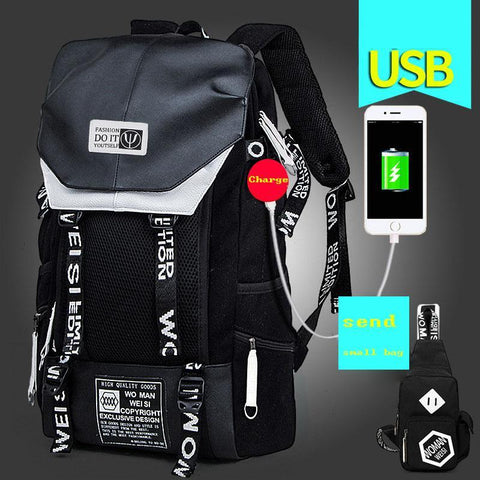 2017 New External USB Charge Port  Perfect Quality High-Capacity Leisure Backpack