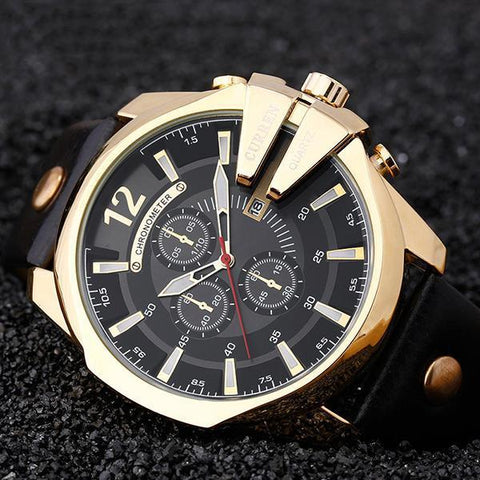 Luxury Popular Brand Watch Mans Quartz Gold Watches