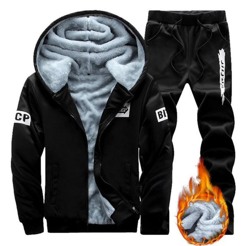 Men Warm Thicker Sport Suits