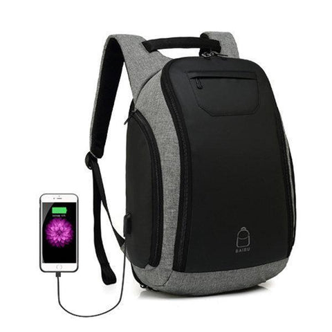 Large Capacity USB Charging Port 17 Inch Laptop Bag