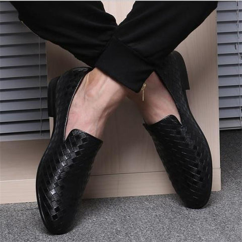 Business Fashion Solid Color Leather Shoes