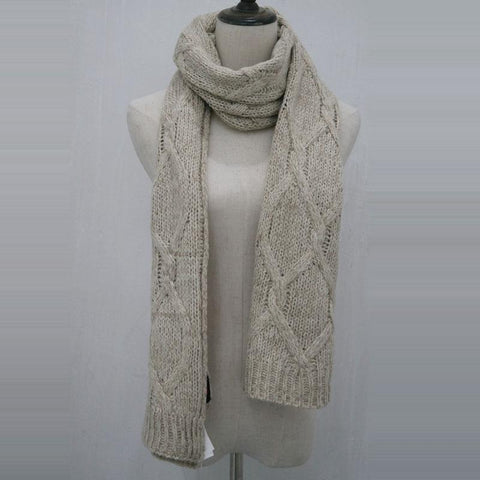 Casual Thicken Plain Keep Warm Windproof Scarf