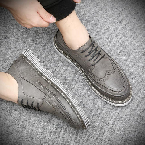 Vintage Plain Strappy Thicken Sole Soft Shoes
