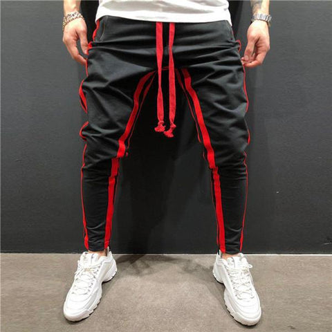 Casual Drawstring Split Joint Sport Zipper Trousers