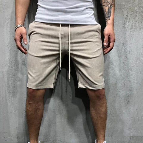 Men's Casual Fashion Color Matching Stripe Shorts