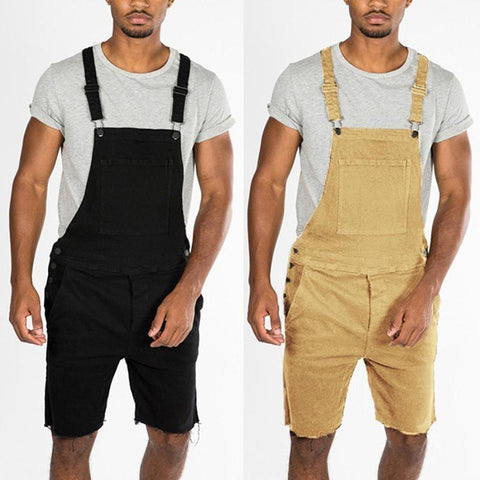 Men's Fashion Pocket Denim Tooling Strap Jumpsuit