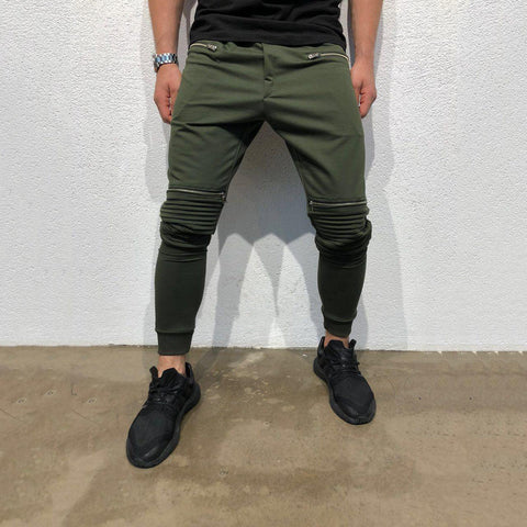 Men's Casual Hip Hop Tether Elastic Trousers