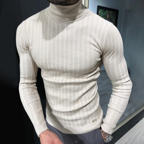 Men's casual pure color long sleeve sweater