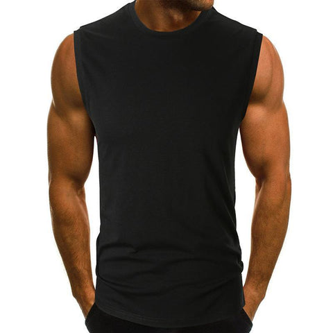Casual Solid Color Sleeveless Fitness Vest