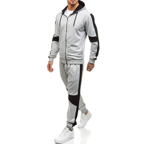 Hooded Two-Piece Men's Running Sportswear Hoodies Suit