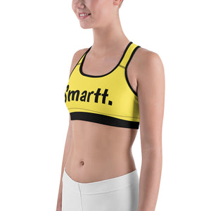 Black and Yellow Sports bra