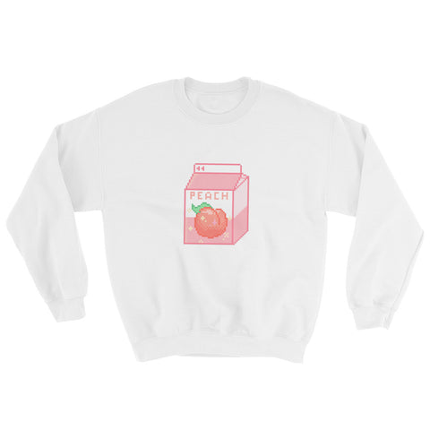 Pixel Art Peach Milk Unisex Sweatshirt For Teens