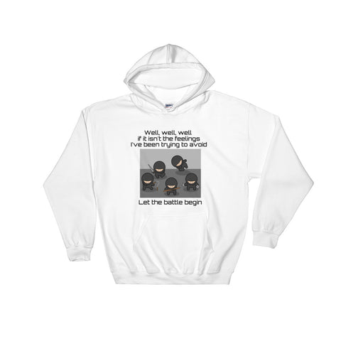 Ninja - Let the Battle Begin Funny, Graphic Hoodie for Men, Women, Teens