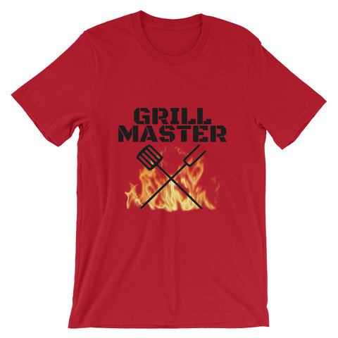 Grill Master Flaming Short-Sleeve Mens T-Shirt