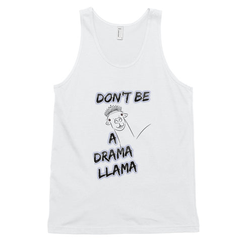 Don't Be A Drama Llama Fun, Graphic Classic tank top (unisex)