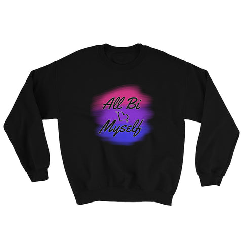 LGBT All Bi Myself Unisex Crewneck Sweatshirt