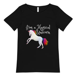 I'm A Magical Unicorn Unisex Raw Neck Tee