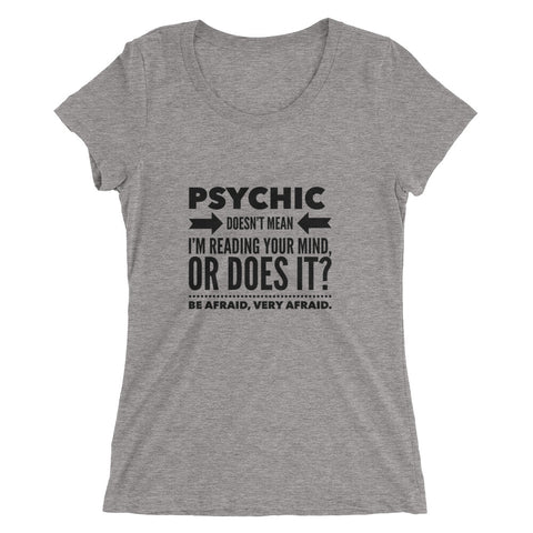 Psychic Funny, Graphic Ladies' short sleeve t-shirt